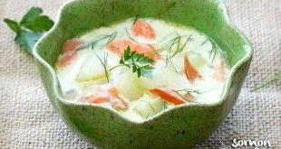 Sebzeli Somon Füme Çorbası Tarifi