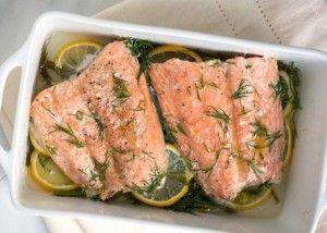 Fırında dereotlu ve limonlu somon balığı tarifi