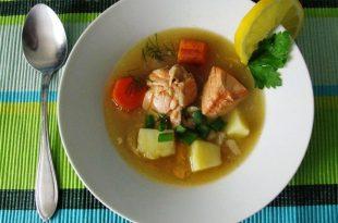 Şifalı Sebzeli Somon Balığı Çorbası
