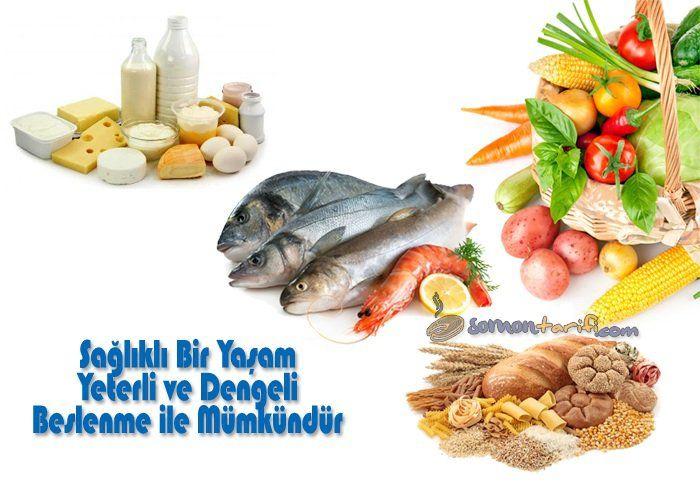 Sağlıklı bir yaşam için yeterli ve dengeli beslenmeli tüm besin grupları tüketilmelidir