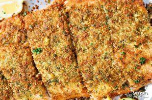 Parmesan peynirli fırında çıtır somon tarifi